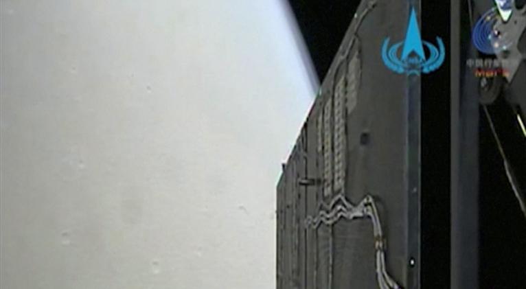 Un róver se separará de la sonda en unos meses para descender a la superficie marciana. Foto: Administración Nacional del Espacio de China /CNS / Reuters