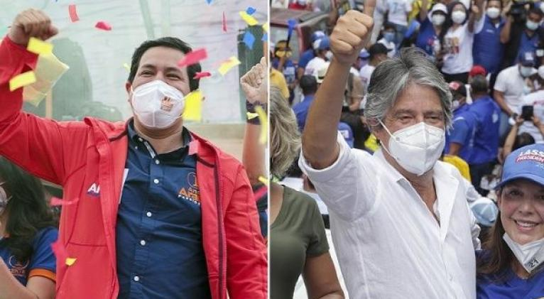 El ganador de la segunda vuelta electoral entre Arauz y Lasso asumirá la presidencia de Ecuador el 24 de mayo próximo para el periodo 2021-2025. Foto: Telam