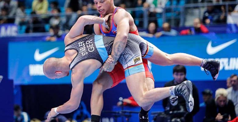 Confiamos en que Borrero salga airoso de este combate contra la Covid-19 y enrumbe a Tokio en pos de su segundo cetro olímpico. Foto: United World Wrestling