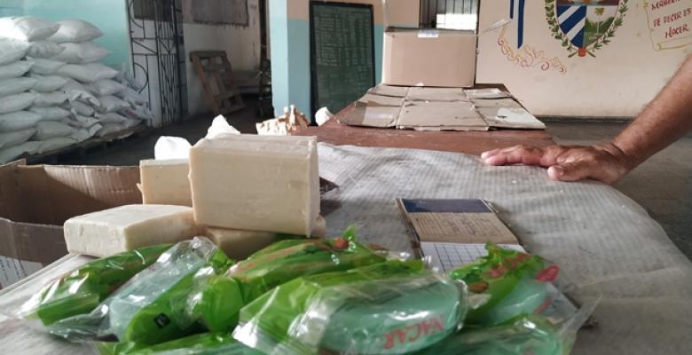 El módulo destinado a la canasta básica ayudará a millares de familias cubanas. Foto: Del autor.